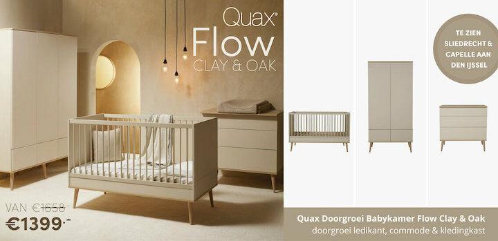 Quax Doorgroei Babykamer Flow Clay & Oak
