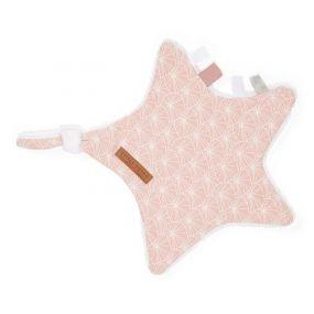 Little Dutch Knuffeldoekje Ster Lily Leaves Pink