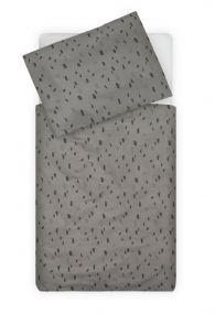 Jollein Dekbedovertrek Peuterbed 100 x 140 cm Spot Storm Grey