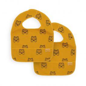 Jollein Slabbetjes 2 Stuks Waterproof Tiger Mustard