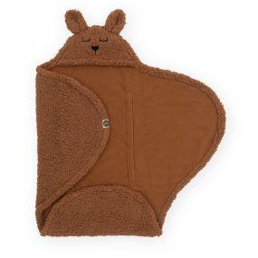 Jollein Wikkeldeken Bunny Caramel 100 x 105 cm
