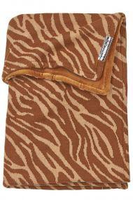 Meyco Wiegdeken Zebra Camel Velvet 75 x150 cm