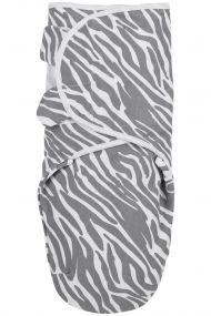Meyco Swaddle Inbakerdoek Zebra Grijs 4 Tot 6 mnd