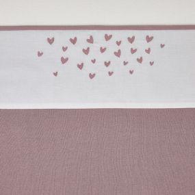 Meyco Wieglaken Hearts Lilac 75x100cm
