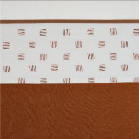 Meyco Ledikantlaken Block Stripe Camel 100 x 150 cm