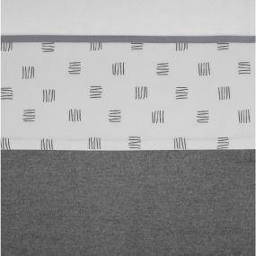 Meyco Ledikantlaken Block Stripe Grijs 100 x 150 cm