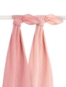 Jollein Bamboe Multidoek Pale Pink 2 Pack 115 x 115 cm