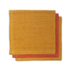 Jollein Bamboe Monddoekje Mustard Rust 3 Pack