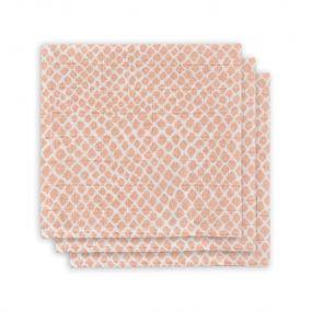 Jollein Monddoekjes Hydrofiel 3 Stuks Snake Pale Pink