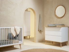 Quax Doorgroei Babykamer Flow White & Oak