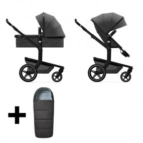 Joolz 2 In 1 Kinderwagen Day+ Awesome Anthracite + Gratis Voetenzak