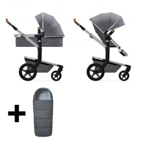 Joolz 2 In 1 Kinderwagen Day+ Gorgeous Grey + Gratis Voetenzak