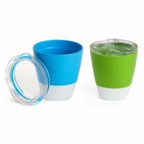 Munchkin Beker Splash Trainer Cup 2-Stuks Groen/Blauw