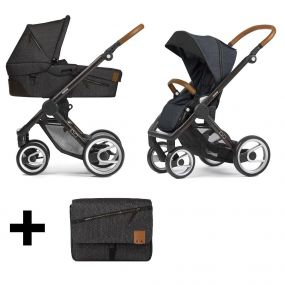 Mutsy Kinderwagen 2 in 1 Evo Industrial Charcoal Rock / Black Brown Frame