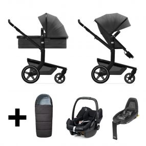 Joolz 2 In 1 Kinderwagen Day+ Awesome Anthracite + Maxi Cosi Autostoel + Base + Voetenzak