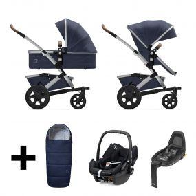 Joolz 2 in 1 Kinderwagen Geo2 Classic Blue + Maxi Cosi Autostoel + Base + Voetenzak
