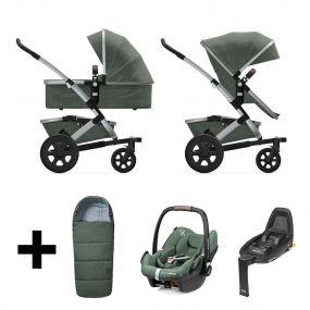 Joolz 2 in 1 Kinderwagen Geo2 Marvellous Green + Maxi Cosi Autostoel + Base + Voetenzak