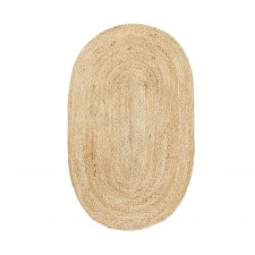 KidsDepot Vloerkleed Jute Oval Natural