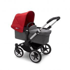 Bugaboo Kinderwagen Donkey3 Mono Alu - Grey Melange - Red