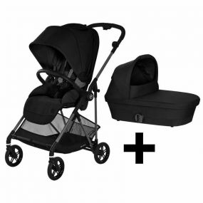 Cybex Kinderwagen 2 in 1 Melio Carbon Deep Black