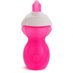 Munchkin Drinkbeker Click Lock Flip Straw Cup Roze