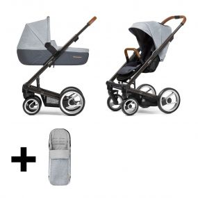 Mutsy Kinderwagen 2 in 1 I2 Pure Black Cloud + Gratis Voetenzak