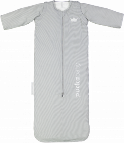 Puckababy Slaapzak The Bag 4 Seasons Grey Stripe 6 m/2,5 jaar