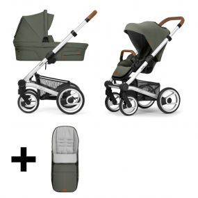 Mutsy Kinderwagen Nio 2 in 1 Adventure Sea Green Standard + Gratis Voetenzak