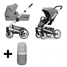 Mutsy Kinderwagen Nio 2 in 1 Journey Ice Grey Standard + Gratis Voetenzak