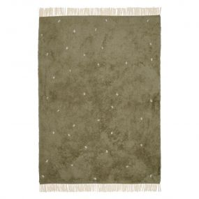 Little Dutch Vloerkleed Dot Pure Olive 170 x 120 cm