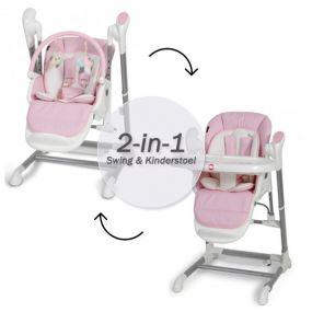 Topmark Xavi 2-in-1 Kinderstoel / Babyswing Pink