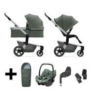 Joolz Kinderwagen 3 in 1 Hub+ Marvellous Green + Autostoel + Adapterset + Base + Voetenzak
