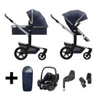 Joolz 2 In 1 Kinderwagen Day+ Classic Blue + Autostoel + Adapterset + Base + Voetenzak