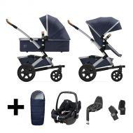 Joolz Kinderwagen 3 in 1 Geo2 Classic Blue + Autostoel + Adapterset + Base + Voetenzak