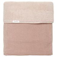 Koeka Ledikantdeken Vik Grey Pink Teddy Gevoerd 100x150 cm