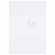 Little Dutch Wieglaken Geborduurd Wild Flowers Pink