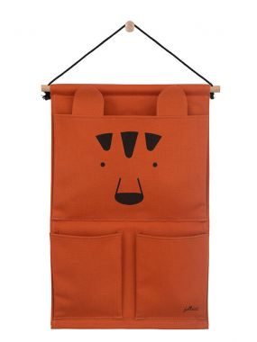Jollein Wandorganizer Canvas Animal Club Rust