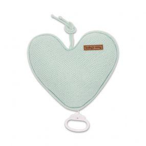 Baby's Only muziekdoos hart classic mint