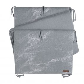 Baby's Only Bedbumper Marble - Silver Grey