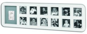 Baby Art My First Year Photo Print Frame White Grey
