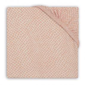 Jollein Hoeslaken Wieg 40 x 80 cm Snake Pale Pink