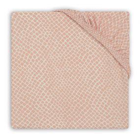 Jollein Hoeslaken Boxmatras 75 x 95 cm Snake Pale Pink