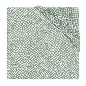 Jollein Hoeslaken Boxmatras 75 x 95 cm Snake Ash Green