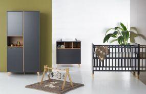 Quax Babykamer Loft Antracite 3-Delig