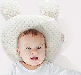 Cabino Baby Hoofdkussen Flat Head Hartjes