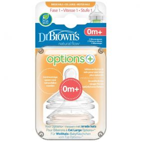 Dr. Brown's Options + speen Breed Fase 1 (2 Stuks)
