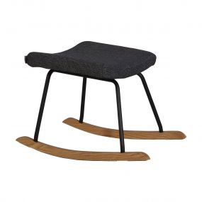 Quax Hocker Voor De Luxe Schommelstoel Black
