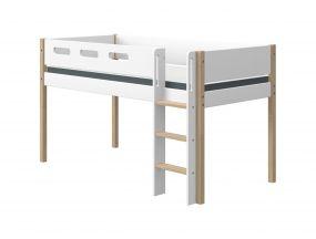 Flexa Nor Halfhoogslaper Met Rechte Ladder 90 x 190 cm