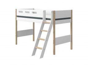 Flexa Nor Halfhoogslaper Verhoogd Met Schuine Ladder 90 x 190 cm