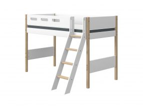 Flexa Nor Halfhoogslaper Verhoogd Met Schuine Ladder 90 x 200 cm